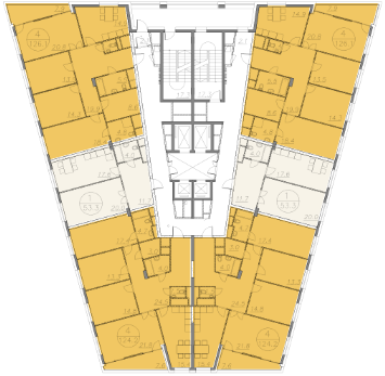 "планировка этажа ЖК ""V-House"""
