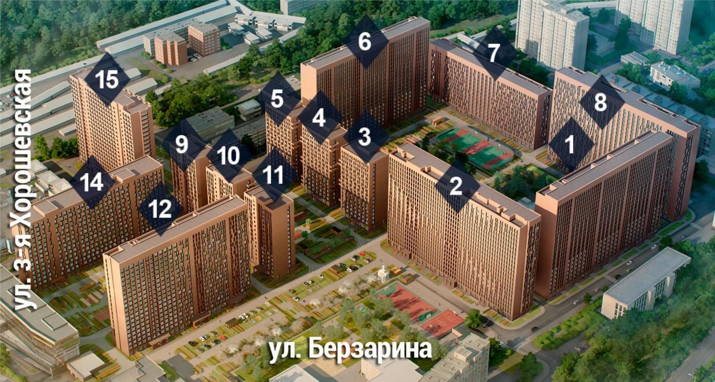 """Генплан ЖК """"Хорошевский"""""""