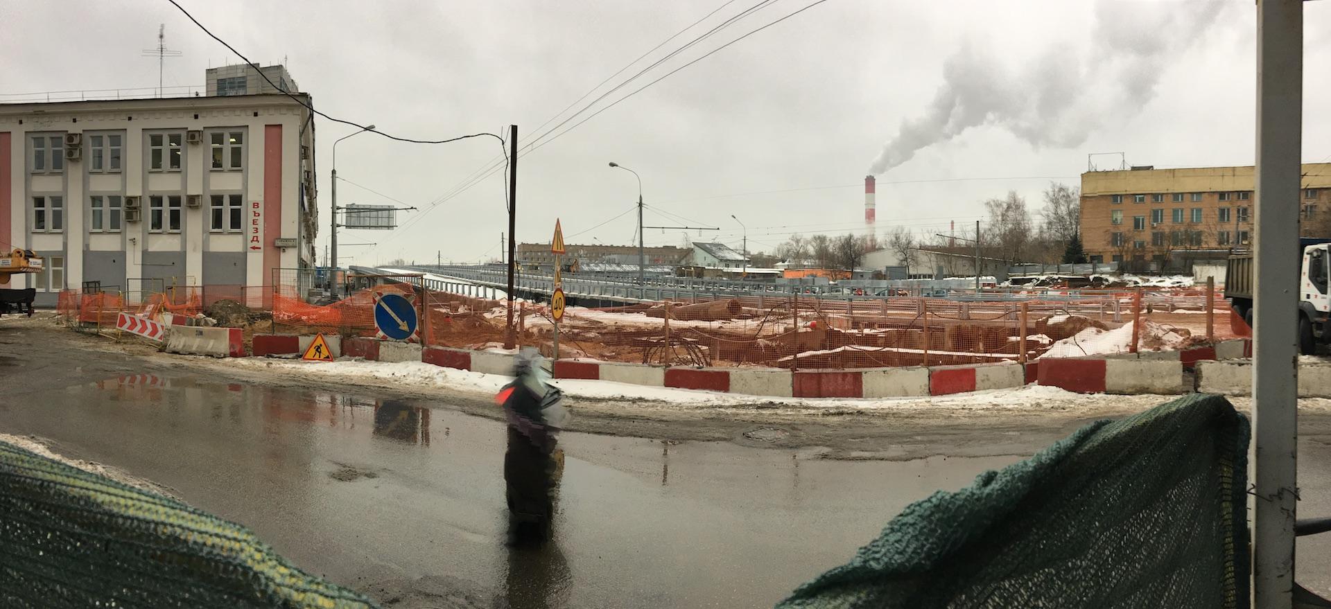 Вид на промзону с перекрестка улиц Гаражной и Буденого