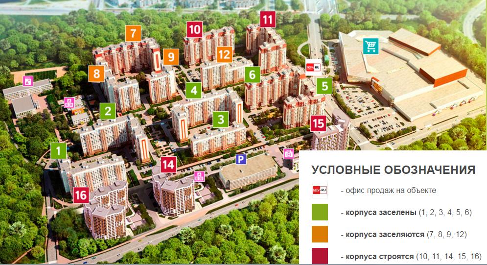 """Генплан ЖК """"Новое Бутово"""""""