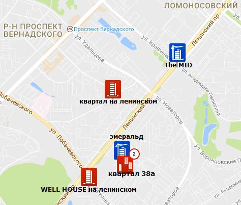 "карта новостроек ЖК ""Квартал 38А"""