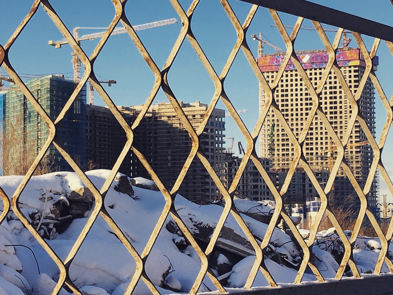 """Вид на ЖК """"Сердце Столицы"""" со стороны 1-го Силикатного проезда"""