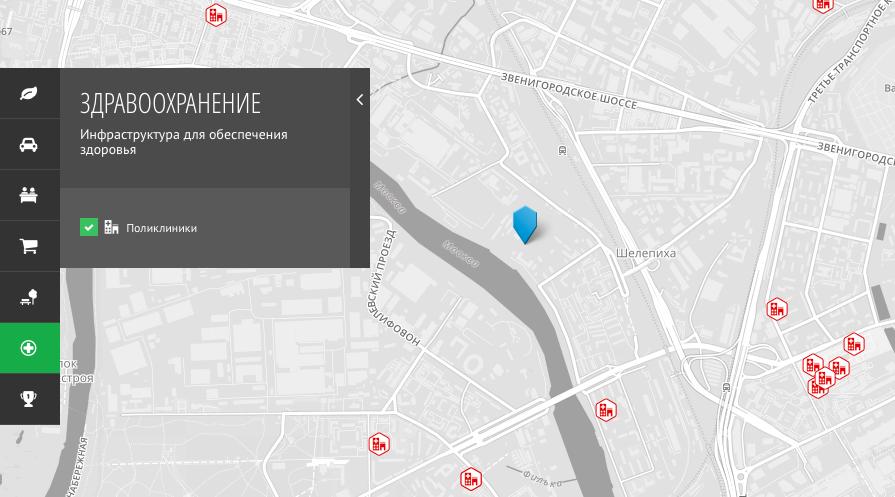 """Учреждения здравоохранения вблизи ЖК """"Сердце Столицы"""""""