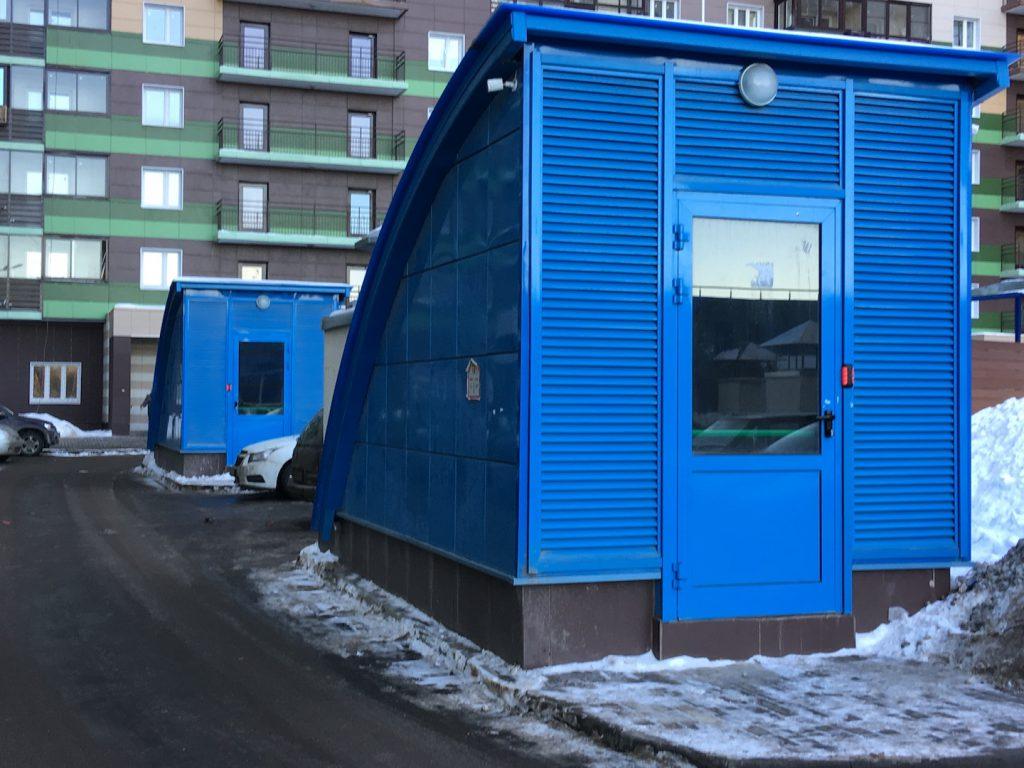 """Вход в подземный паркинг в UP! Квартал """"Новое Тушино"""""""