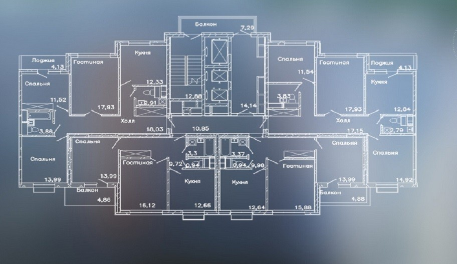"""план этажа ЖК """"LIFE Митинская Ecopark"""""""