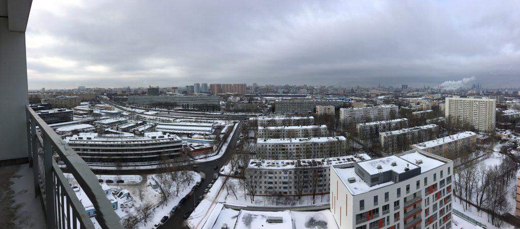 """Вид с высоты 19 этажа в ЖК """"Дом на Нагатинской"""""""