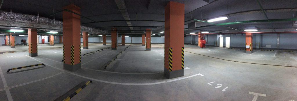 """Подземный паркинг в ЖК """"Дом на Нагатинской"""""""