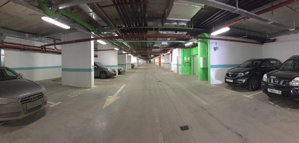 """Подземный паркинг в ЖК """"Акварели"""""""