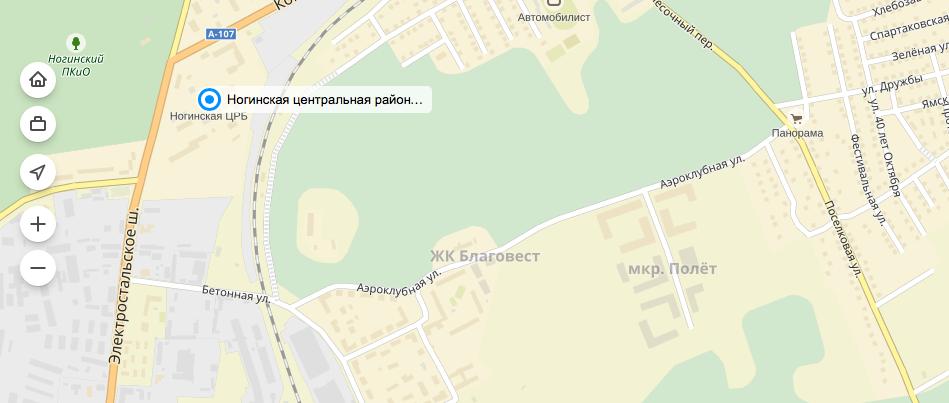 """Учреждения здравоохранения вокруг ЖК """"Полет"""""""