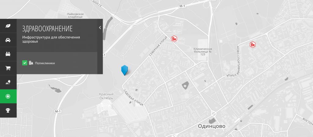 """Учреждения здравоохранения ЖК """"Одинбург"""""""