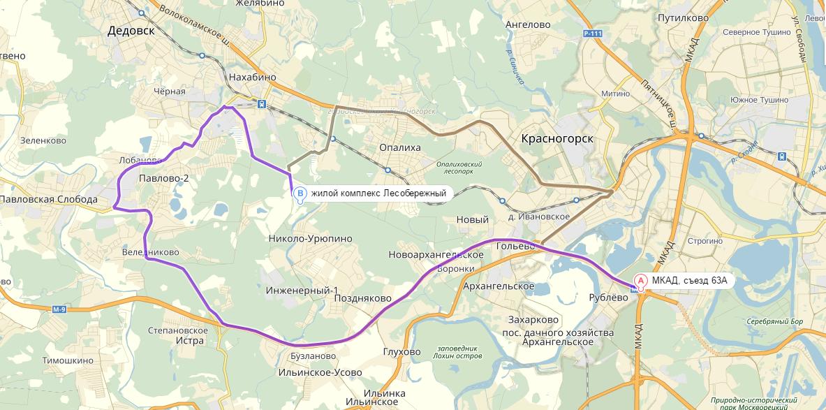 карта ЖК Лесобережный