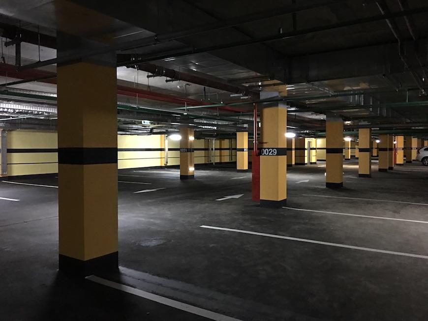 """Подземный паркинг в ЖК """"Золотые Ворота"""""""
