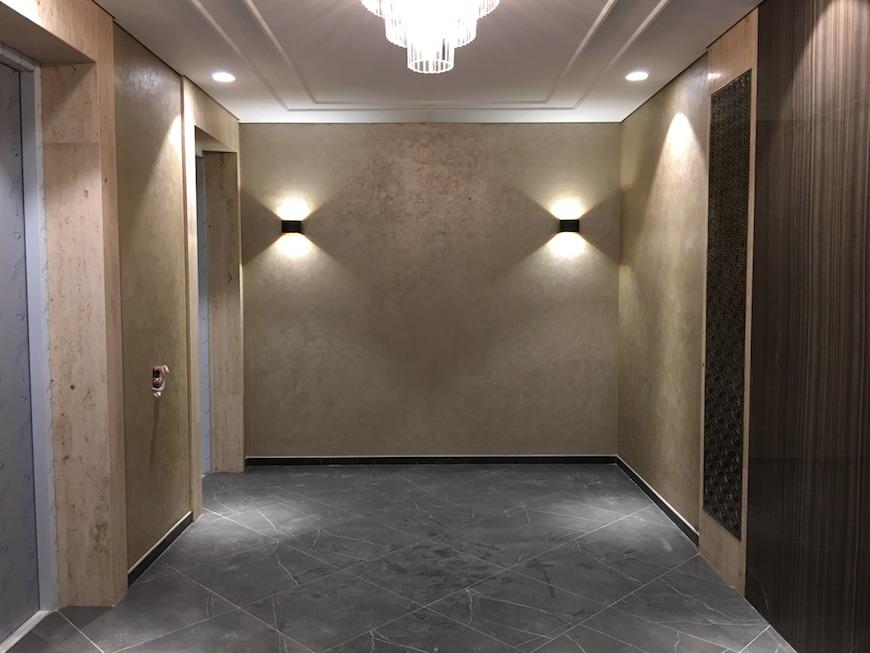 """Лифтовый холл ЖК """"Воробьев Дом"""""""