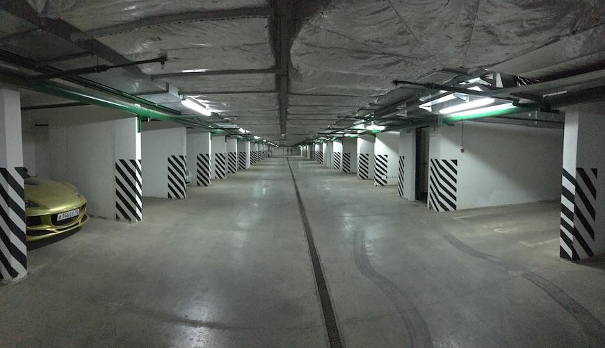 """Подземный паркинг ЖК """"Зеленые Аллеи"""""""